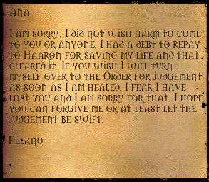 Felano letter 1
